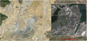 Bingham Canyon Mine and Boston